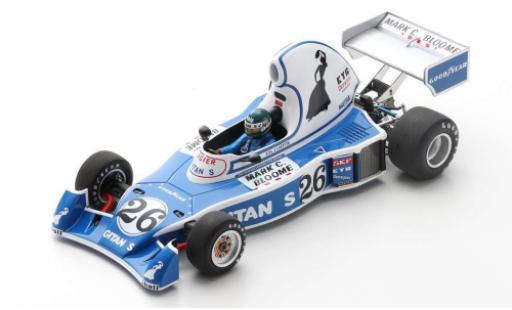 Ligier JS5 1/18 Spark No.26 Gitanes Gitanes Formel 1 GP Long Beach 1976 avec Decals J.Laffite diecast model cars