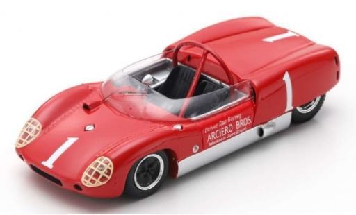 Lotus 19 1/43 Spark RHD No.1 Arciero Bros. Nassau Trophy 61 D.Gurney modellautos