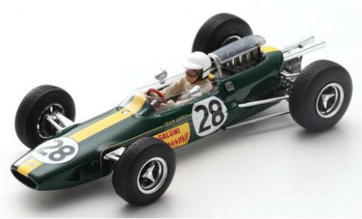 Lotus 25 1/43 Spark No.28 Salumi Rondanini Formel 1 GP Italien 1965 G.Russo