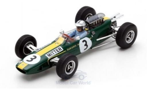 Lotus 25 1/43 Spark No.3 Formel 1 GP Deutschland 1965 G.Mitter diecast model cars