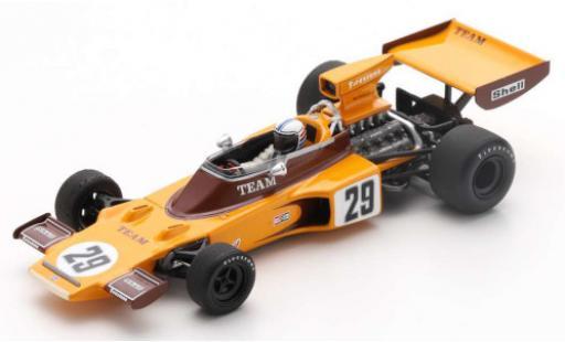 Lotus 72 1/43 Spark E No.29 Team Gunston Gunston Formel 1 GP Südafrika 1974 y compris les Decals I.Scheckter diecast model cars
