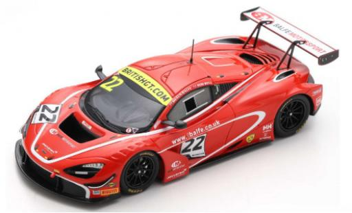 McLaren 720 1/43 Spark S GT3 No.22 Balfe Motorsport British GT Championship 2019 S.Balfe/R.Bell diecast model cars