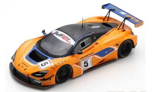 McLaren 720 1/43 Spark S GT3 No.5 12h Gulf 2018 B.Barnicoat/A.Parente/S.van Gisbergen diecast model cars