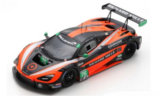 McLaren 720 1/43 Spark S GT3 No.76 Compass Racing Richard Mille Belle Isle 2019 P.Holton/M.Plumb diecast model cars