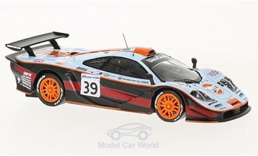 McLaren F1 1/43 Spark GTR No.39 Gulf 24h Le Mans 1997 R.Bellm/A.Gilbert-Scott/M.Sekiya miniature