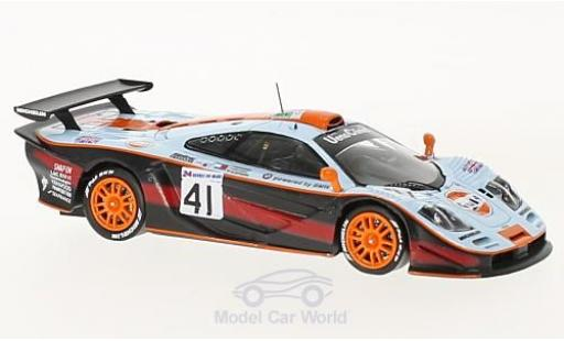 McLaren F1 1/43 Spark GTR No.41 Gulf 24h Le Mans 1997 A.Olofsson/P-H.Raphanel/J.M.Gounon miniature