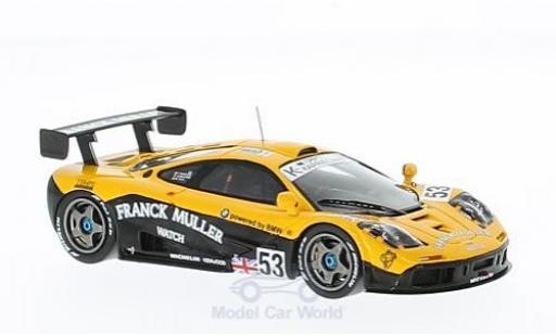 McLaren F1 1/43 Spark GTR No.53 Franck Muller 24h Le Mans 1996 J.D.Deletraz/M.Sandro Sala/F.Giroix miniature