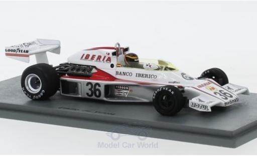 McLaren M23 1/43 Spark No.36 Formel 1 GP Spanien 1977 E.de Villota miniature