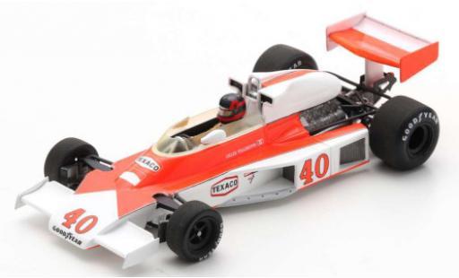 McLaren M23 1/43 Spark No.40 Marlboro Team Formel 1 GP Großbritannien 1977 G.Villeneuve coche miniatura