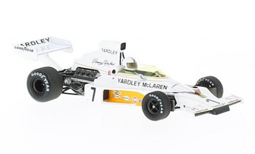 McLaren M23 1/43 Spark No.7 Yardley Formel 1 GP Schweden 1973 D.Hulme diecast model cars