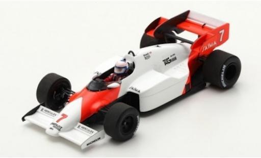 McLaren MP4-12C 1/43 Spark MP4-2 No.7 Formel 1 GP Deutschland 1984 A.Prost miniature