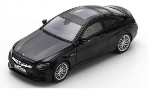 Mercedes Classe C 1/43 Spark AMG C63 Coupe (C205) black 2018 diecast model cars