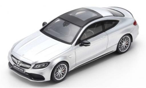 Mercedes Classe C 1/43 Spark AMG C63 Coupe grey 2018 diecast model cars
