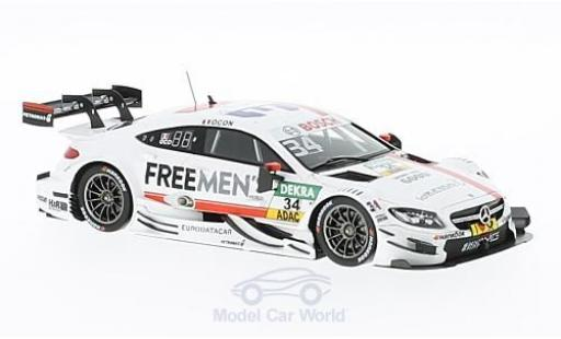 Mercedes Classe C DTM 1/43 Spark AMG C63 No.34 -AMG Team ART Freemens 2016 E.Ocon diecast model cars