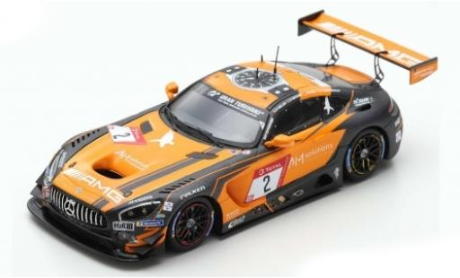 Mercedes AMG GT 1/43 Spark 3 No.2 -AMG Team Black Falcon 24h Nürburgring 2019 A.Christodoulou/M.Engel/M.Metzger/D.Müller coche miniatura