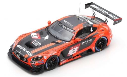 Mercedes AMG GT 1/43 Spark 3 No.3 -AMG Team Black Falcon 24h Nürburgring 2019 M.Buhk/H.Haupt/T.Jäger/L.Stolz miniature