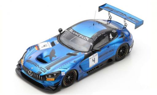 Mercedes AMG GT 1/18 Spark 3 No.4 Blancpain GT Series Endurance Cup 2018 Y.Buurman/M.Engel/L.Stolz miniature