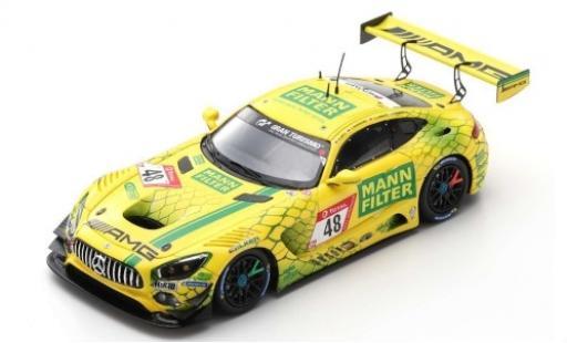 Mercedes AMG GT 1/43 Spark 3 No.48 -AMG Team MANN-Filter 24h Nürburgring 2019 C.Hohenadel/L.D.Arnold/R.Marciello/M.Götz modellino in miniatura