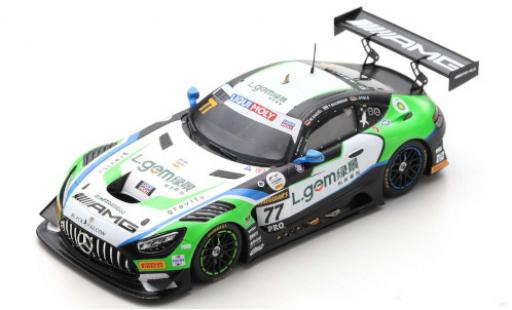 Mercedes AMG GT 1/43 Spark 3 No.77 -AMG Team CraftBamboo Racing 12h Bathurst 2020 M.Engel/L.Stolz/Y.Buurman diecast model cars