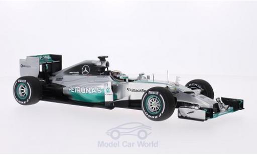 Mercedes F1 1/18 Spark W05 No.44 Petronas Formel 1 GP Großbritannien 2014 inklusive Figur L.Hamilton ohne Vitrine miniatura