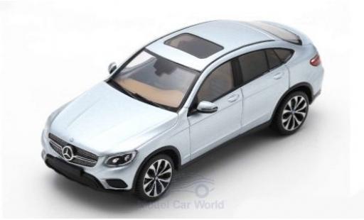 Mercedes Classe GLC 1/43 Spark GLC 300 4Matic Coupe grey 2016 diecast model cars