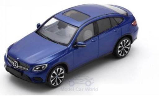 Mercedes Classe GLC 1/43 Spark GLC Coupe métallisé bleue 2016 miniature