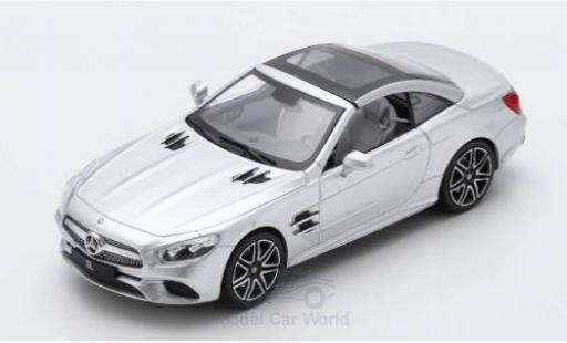 Mercedes Classe SL 1/43 Spark SL 450 silber 2017 SoftTop liegt ein