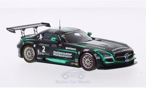 Mercedes SLS 1/43 Spark AMG GT3 No.2 Black Falcon Racing 24h Dubai 2015 A.Al Faisal/H.Haupt/Y.Buurman/O.Webb miniature