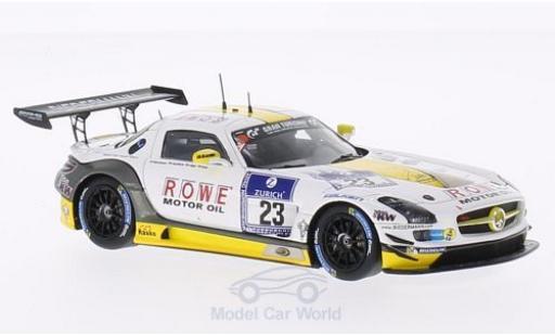 Mercedes SLS 1/43 Spark AMG GT3 No.23 Rowe Racing 24h Nürburgring 2014 K.Graf/J.Seyffarth/T.Jäger/R.Göransson miniature
