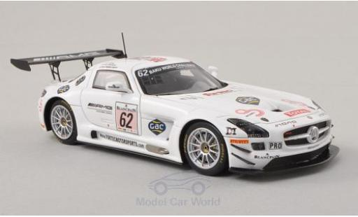Mercedes SLS 1/43 Spark AMG GT3 No.62 AMG Customer Sports 24h Spa 2013 O.Webb/K.Wendlinger/A.Brundle miniature