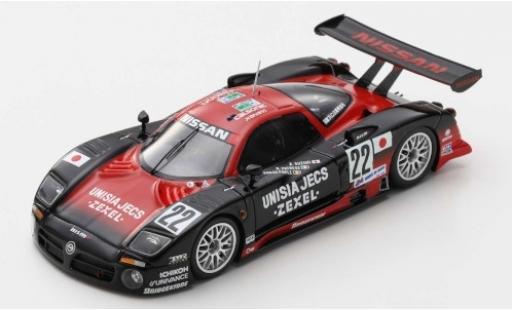 Nissan R390 1/43 Spark GT1 RHD No.22 Motorsport Unisia Jecs 24h Le Mans 1997 A.Suzuki/R.Patrese/E.van de Poele miniature