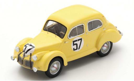 Panhard Dyna 1/43 Spark X84 No.57 Team Louis Eggen 24h Le Mans 1950 L.Eggen/P.Escale coche miniatura