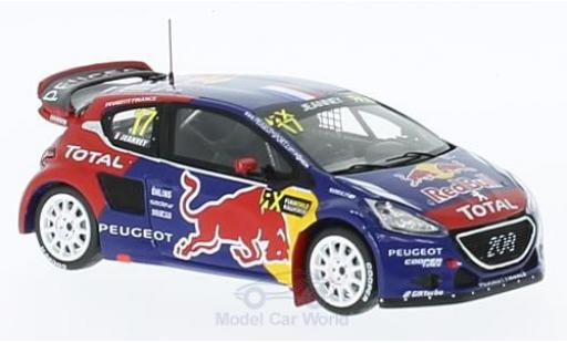 Peugeot 208 1/43 Spark WRX No.17 Team -Hansen Red Bull Rallye-Cross WM Deutschland 2015 D.Jeanney miniature