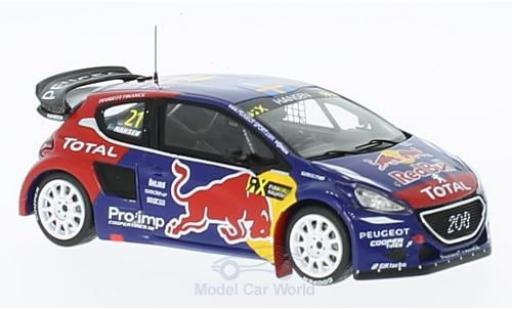 Peugeot 208 1/43 Spark WRX No.21 Team Hansen Red Bull Rallye-Cross WM Frankreich 2015 T.Hansen miniature