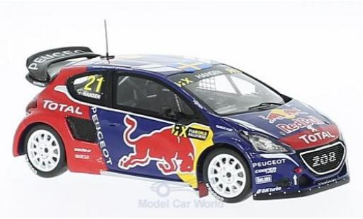 Peugeot 208 1/43 Spark WRX No.21 Team Hansen Red Bull Rallye-Cross WM Kanada 2016 T.Hansen miniature