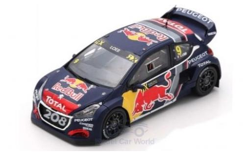 Peugeot 208 1/43 Spark WRX No.9 Team Total Red Bull World RX Belgien 2018 S.Loeb miniature