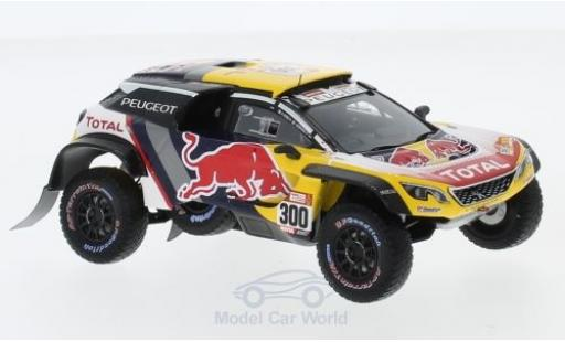 Peugeot 3008 1/43 Spark DKR Maxi No.300 Team Total Rallye Dakar 2018 S.Peterhansel/J-P.Cottret miniature