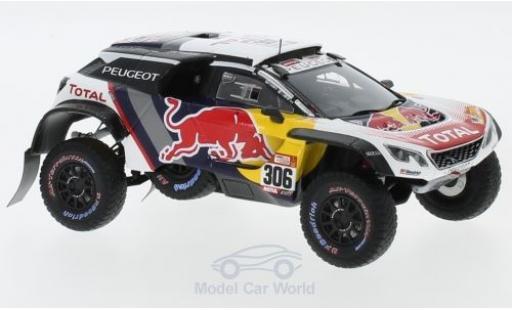 Peugeot 3008 1/43 Spark DKR Maxi No.306 Team Total Rallye Dakar 2018 S.Loeb/D.Elena miniature