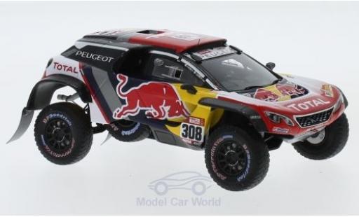 Peugeot 3008 1/43 Spark DKR Maxi No.308 Team Total Red Bull Rallye Dakar 2018 C.Despres/D.Castera miniature
