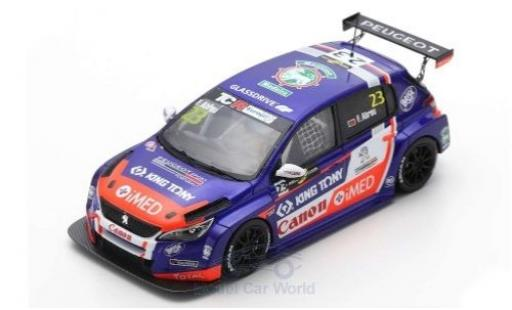 Peugeot 308 1/43 Spark TCR No.23 Sports & You TCR Europe Hungaroring 2018 F.Abreu miniature