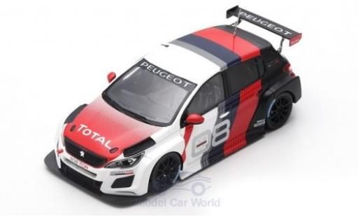 Peugeot 308 1/43 Spark TCR TCR International Series 2018 Präsentationsfahrzeug miniature