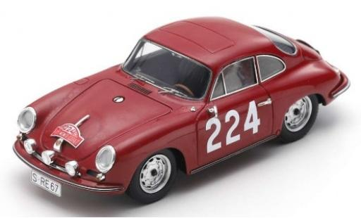 Porsche 356 1/43 Spark B T6 Carrera 2 No.224 Rally Monte Carlo 1964 G.Klass/H.Wencher diecast model cars