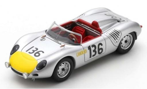 Porsche 718 1/43 Spark RS61 No.136 KG Targa Florio 1961 S.Moss/G.Hill miniature