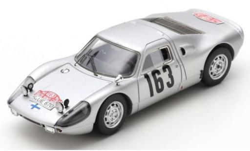 Porsche 904 1965 1/43 Spark Carrera GTS No.163 Rallye Monte Carlo P.Toivonen/A.Järvi miniature