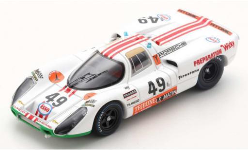 Porsche 907 1/43 Spark RHD No.49 24h Le Mans 1971 W.Brun/P.Mattli coche miniatura