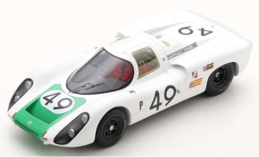 Porsche 907 1/18 Spark C RHD No.49 12h Sebring 1968 H.Herrmann/J.Siffert miniature