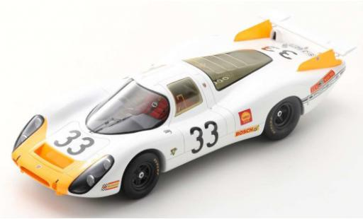 Porsche 908 1968 1/18 Spark No.33 System Engineering 24h Le Mans R.Stommelen/J.Neerpasch coche miniatura