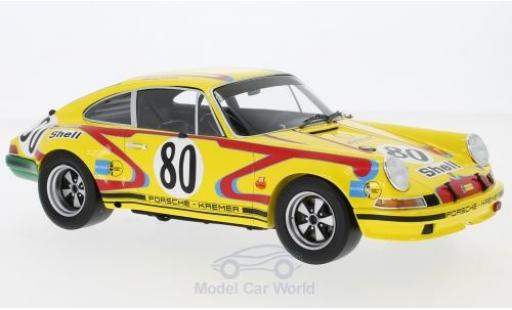 Porsche 911 SC 1/18 Spark 2.5S No.80 Kremer 24h Le Mans 1972 J.Fitzpatrick/E.Kremer miniature