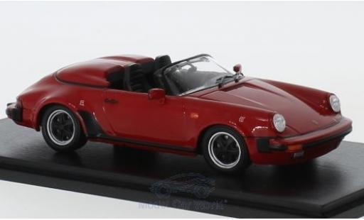 Porsche 930 Turbo 1/43 Spark 911 3.2 Speedster Look rouge 1989 miniature