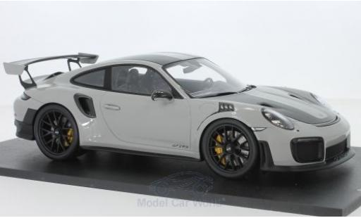 Porsche 991 GT2 RS 1/18 Spark 911 (.2) grey/carbon 2018 Weissach Package diecast model cars